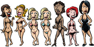 Bikini Women Royalty Free Stock Images