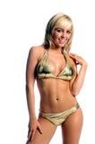 bikini złota blondynką Obrazy Royalty Free