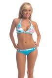 bikiniblondinö royaltyfria bilder