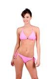 bikinibrunettkvinna Arkivfoton