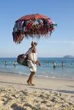 BikiniförsäljareIpanema strand Rio de Janeiro Brazil Royaltyfria Foton