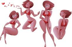 bikiniflickor Arkivfoto