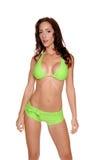 bikinigreen royaltyfria bilder