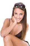 bikinikvinnabarn Arkivbild