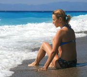 Bikinimädchen Stockbilder