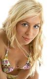 Bikinimädchenporträt lizenzfreie stockfotos