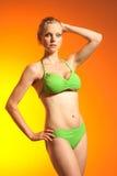 bikinimodell arkivbild