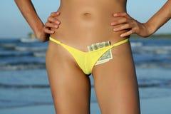 bikinis δολάρια Στοκ φωτογραφίες με δικαίωμα ελεύθερης χρήσης