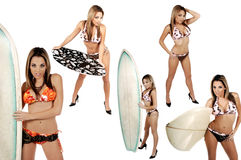 bikinisamlingswaterspout Arkivfoto