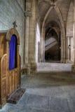 Biktstol i gammal kloster Royaltyfria Bilder