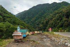 Bikupa i georgiska berg Fotografering för Bildbyråer