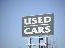 bilåterförsäljarefragmentet använde windshielden royaltyfri bild