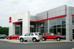 bilåterförsäljaretoyota lastbil Arkivbild