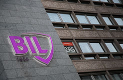 BIL Banque Internationale a Luxembourg Royalty Free Stock Photo