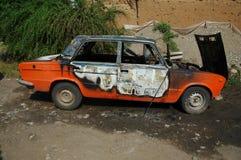 Bil efter brand Royaltyfri Bild