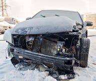 Bil efter en olycka Arkivfoton