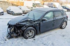 Bil efter en olycka Royaltyfria Bilder
