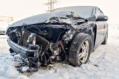 Bil efter en olycka Arkivbild