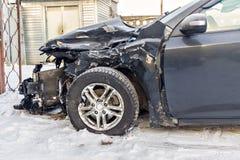 Bil efter en olycka Arkivfoto