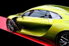 Bil för begrepp för DS E-TENSE hybrid- Arkivbild