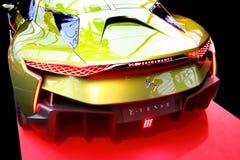 Bil för begrepp för DS E-TENSE hybrid- Fotografering för Bildbyråer