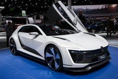 Bil för begrepp för Volkswagen Golf GTE-sport Royaltyfria Bilder