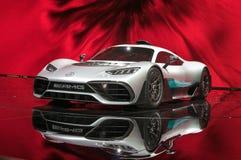 Bil för begrepp för Mercedes-AMG projekt ett Arkivbild