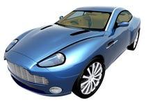 bil för blue 3d royaltyfri bild