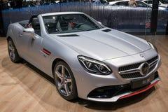 Bil för cabriolet för Mercedes Benz SLC 200 Arkivbilder