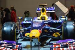 Bil för formel F1 på skärm på Chicago den auto showen Arkivbilder