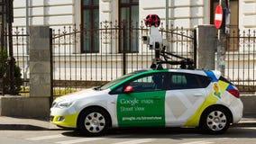 Bil för Google gatasikt Arkivfoton