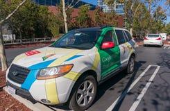 Bil för Google Maps gatasikt Arkivfoto