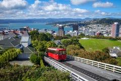 Bil för gummistövelstadskabel, Nya Zeeland arkivfoton