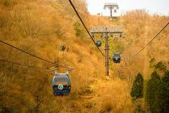 Bil för Hakone ropewaykabel arkivbild