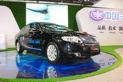 Bil för Hongqi h7 phevsvart Royaltyfri Foto