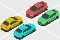 Bil för isometrisk värld Royaltyfri Foto