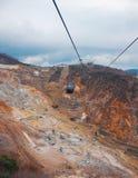 Bil för kabel för Hakone ropewayberg Royaltyfri Bild