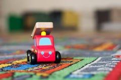 Bil för leksakbrandmotor Arkivfoto