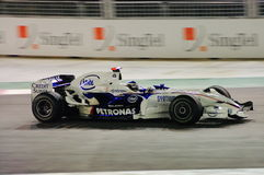 Bil för Nick Heidfeld Bmw Sauber i 2008 F1 Arkivbilder