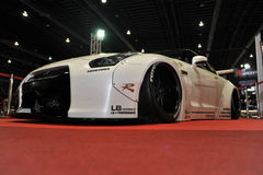 Bil för Nissan horisont R35 GT-r på den 3rd bangkok internationella autosalonen 2015 på Juni 27, 2015 i Bangkok, Thailan Royaltyfria Foton