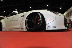 Bil för Nissan horisont R35 GT-r på den 3rd bangkok internationella autosalonen 2015 på Juni 27, 2015 i Bangkok, Thailan Royaltyfria Bilder