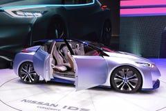 Bil för Nissan legitimationbegrepp Arkivbild