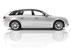 Bil för silver 3D Arkivbilder