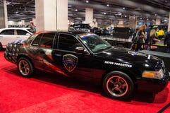 Bil för special upplaga för polismilitärt jaktplan Arkivfoto