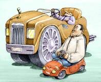 Bil för statussymbol royaltyfri illustrationer