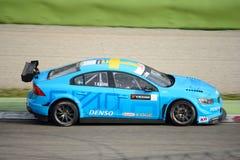 Bil för Volvo V60 Polestar WTCC på Monza Arkivfoton