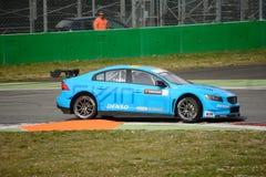 Bil för Volvo V60 Polestar WTCC på Monza Fotografering för Bildbyråer