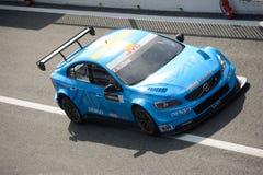 Bil för Volvo V60 Polestar WTCC på Monza Royaltyfria Foton