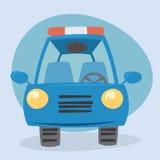 Bil- främre sikt för tecknad film Arkivbild