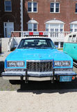 Bil för polisen för tappningNYPD Plymouth Royaltyfria Foton